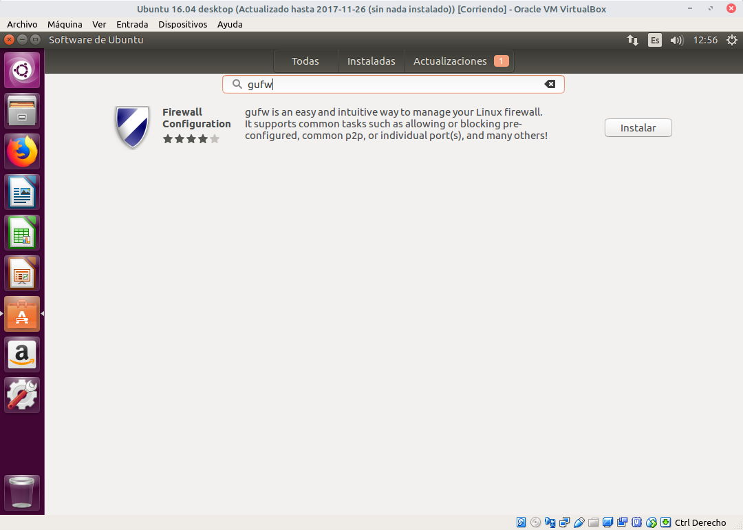 Buscar GUFW en Ubuntu Software