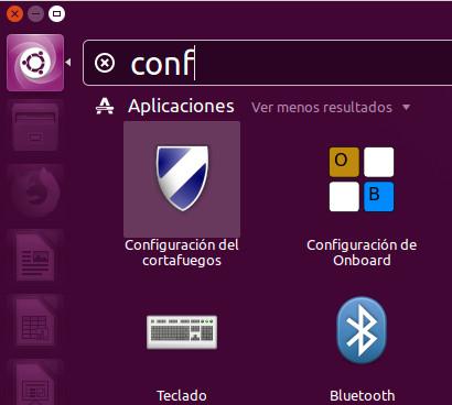 Iniciar la aplicación del cortafuegos de Ubuntu (GUFW)