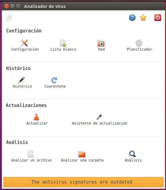 Interfaz de ClamTK